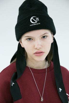 ANOTHERYOUTH ニットキャップ・ビーニー ANOTHERYOUTH★logo beanie (2色)★男女共用(7)