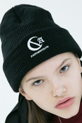 ANOTHERYOUTH ニットキャップ・ビーニー ANOTHERYOUTH★logo beanie (2色)★男女共用(8)