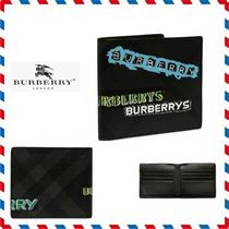 19ss新作◆Burberry◆signature leather wallet 折りたたみ財布