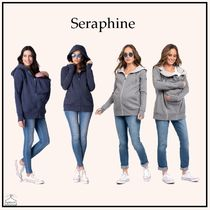 Seraphine☆3 in 1 Maternity Hoodie Navyblue/gray