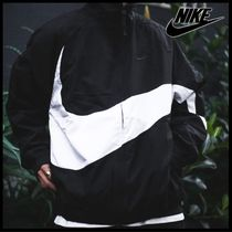 国内発送・正規品★ナイキ NIKE BIG SWOOSH NYLON JACKET★BLACK