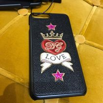 VIP SALE【Dolce&Gabbana】高級レザーiPhone 7-8Plus LOVE