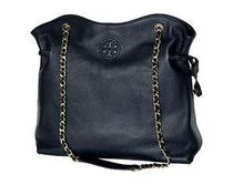 Tory Burch(トリーバーチ) BOMBE SLOUCHY Leather Tote Navy