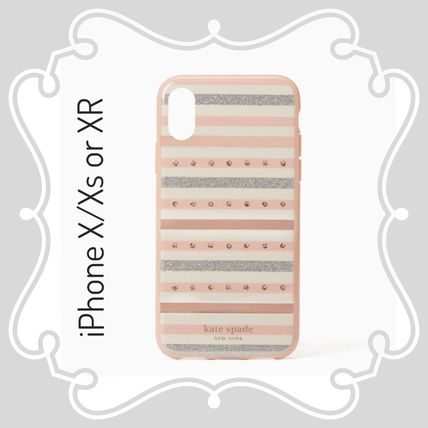 kate spade / iPhone X/Xs  or XR case / Jeweled Stripe