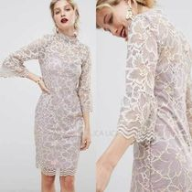 国内発送ASOS/Paper Dolls soft lace high neck dress