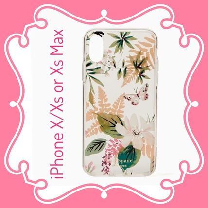 kate spade / iPhone X/Xs or Xs Max case / jeweled botanical