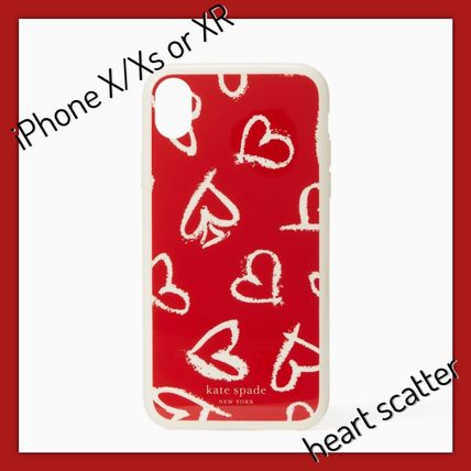 kate spade / iPhone X/Xs  or XR case / heart scatter