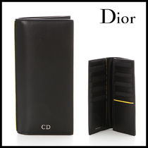 DIOR HOMME(オム)BLACK AND YELLOW WALLET 長財布【国内発】