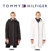 【Tommy Hilfiger】●新作●  Long Chevron Quilted Puffer Coat