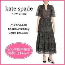 【国内発送】METALLIC EMBROIDERY MIDI DRESSセール