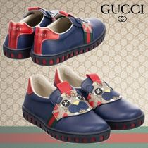 GUCCI★キッズ New Ace Maskレザースリップオンスニーカー