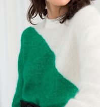 """""""& Other Stories"""" Colour Block Wool Blend Sweater Green"""