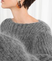 """""""& Other Stories"""" Oversized Wool Blend Sweater Gray"""