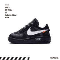 人気話題!Nike x Off-White PS Air Force 1 Low Black