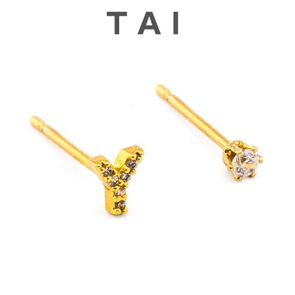 Tai(タイ) PAVE INITIAL  EARRINGS「Y」ピアス ロンハーマン取扱