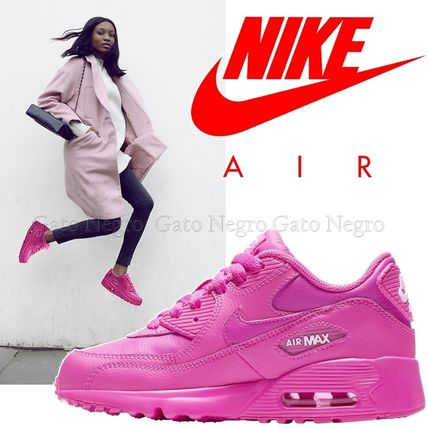 Nike キッズスニーカー ☆⌒'*大人も履ける★Nike Air Max 90 Leather【Laser Fuchsia】