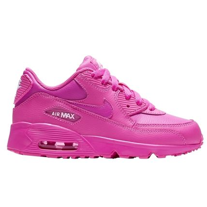 Nike キッズスニーカー ☆⌒'*大人も履ける★Nike Air Max 90 Leather【Laser Fuchsia】(2)