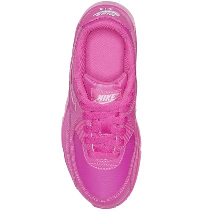 Nike キッズスニーカー ☆⌒'*大人も履ける★Nike Air Max 90 Leather【Laser Fuchsia】(3)