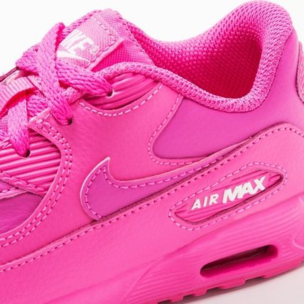 Nike キッズスニーカー ☆⌒'*大人も履ける★Nike Air Max 90 Leather【Laser Fuchsia】(5)