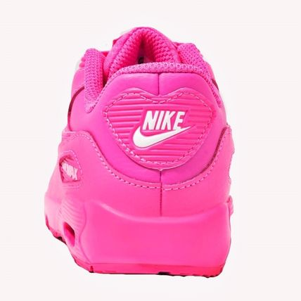 Nike キッズスニーカー ☆⌒'*大人も履ける★Nike Air Max 90 Leather【Laser Fuchsia】(6)