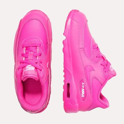 Nike キッズスニーカー ☆⌒'*大人も履ける★Nike Air Max 90 Leather【Laser Fuchsia】(7)