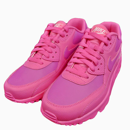 Nike キッズスニーカー ☆⌒'*大人も履ける★Nike Air Max 90 Leather【Laser Fuchsia】(8)