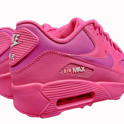 Nike キッズスニーカー ☆⌒'*大人も履ける★Nike Air Max 90 Leather【Laser Fuchsia】(9)