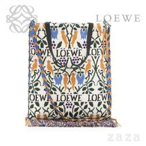 LOEWE★ロエベ Vertical Tote Botanical Bag Duke Blue/Amber