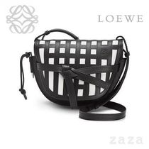 LOEWE★ロエベ Gate Grid Small Bag Black/White