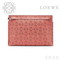LOEWE★ロエベ T Pouch Repeat Pink Tulip/Black