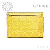 LOEWE★ロエベ T Pouch Repeat Yellow/White