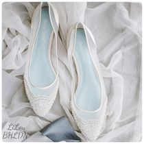 BHLDN取扱いBella Belle★BEADED IVORY FLATS FOR WEDDING