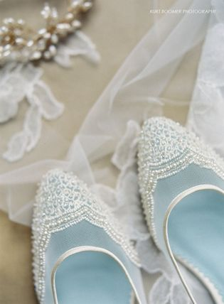 BHLDN ウェディングシューズ BHLDN取扱いBella Belle★BEADED IVORY FLATS FOR WEDDING(3)