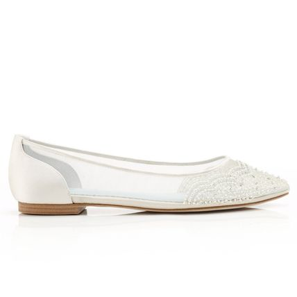 BHLDN ウェディングシューズ BHLDN取扱いBella Belle★BEADED IVORY FLATS FOR WEDDING(6)