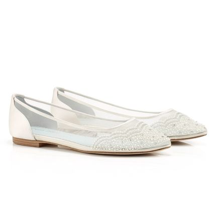 BHLDN ウェディングシューズ BHLDN取扱いBella Belle★BEADED IVORY FLATS FOR WEDDING(8)