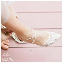 BHLDN取扱いBella Belle★LACE WEDDING BALLET FLATS ホワイト