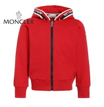 19ss☆MONCLER Jr ラインロゴパーカーRed 12/14A【関税込】