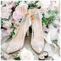BHLDN取扱いBella Belle★FLOWER EMBELLISHED EMBROIDERED HEELS