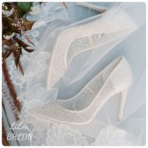 BHLDN取扱いBellaBelle★SEQUIN CRYSTAL DESIGNER WEDDING SHOES