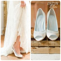 BHLDN取扱いBellaBelle★WHITE LACE PEEP TOE ウェディング