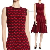 A/W 送料込【Milly】Textured Wave Knit Flare Dress