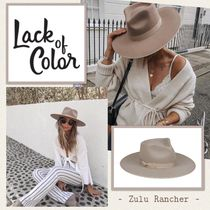 lack of color(ラックオブカラー) ハット 国内発送 ★..  ZULU RANCHER - BEIGE ..★