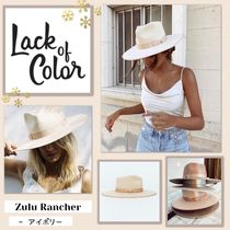 lack of color(ラックオブカラー) ハット 国内発送 ★.. ZULU RANCHER - アイボリー ..★