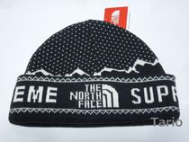 送料込!Supreme x THE NORTH FACE 18FW Fold Beanie ビーニー黒