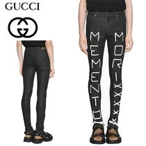 "19SS【GUCCI】Super skinny pant with ""Memento Mori""  新作"