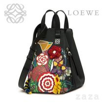 LOEWE★ロエベ Hammock Bouquet Medium Bag Black/Multicolor
