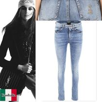 Saint Lauren Jeans With SL Embroidery