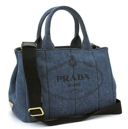 大人気+国内発送!!!PRADA CANAPA bucket type tote 2way