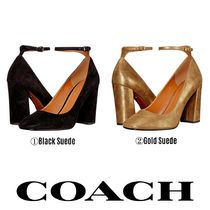 【COACH】●日本未入荷● Suede 95mm Ankle Strap Pump