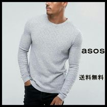 ◆ASOS muscle fit lightweight cable jumper◆ケーブルニット◆